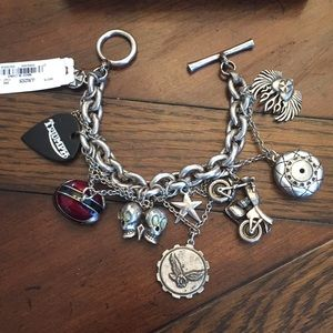 NWT Lucky Brand Motorcycle Charm bracelet!☠️